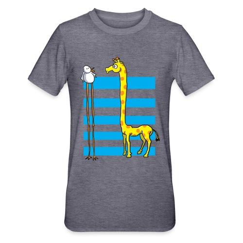 La girafe et l'échassier - T-shirt polycoton Unisexe