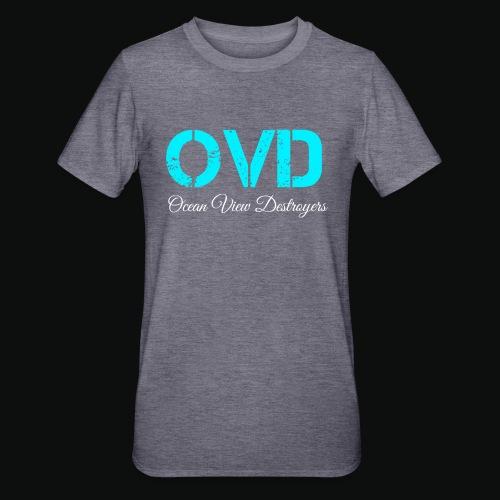 ovd blue text - Unisex Polycotton T-Shirt