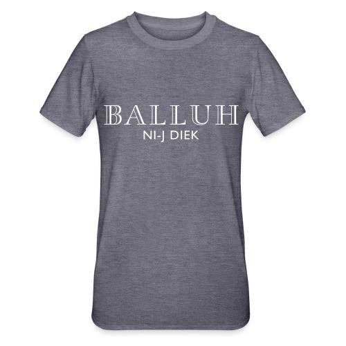 BALLUH NI-J DIEK - zwart/wit - Unisex Polycotton T-shirt
