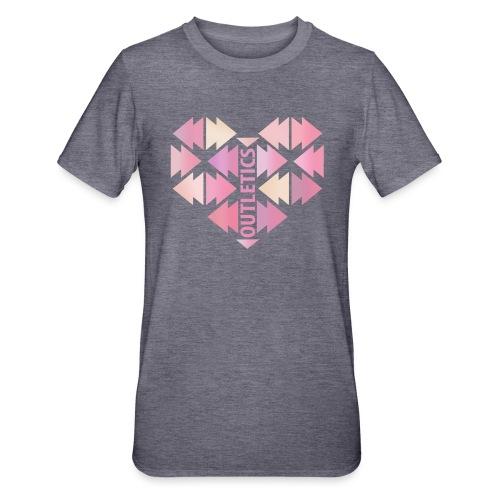 outletics heart - Unisex Polycotton T-Shirt