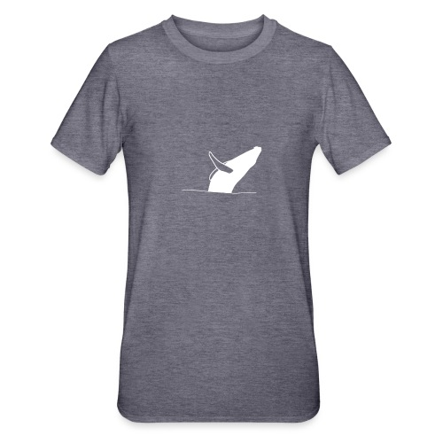 Jumping whale - white - Unisex Polycotton T-Shirt