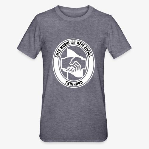 Logo Troihand invertiert - Unisex Polycotton T-Shirt