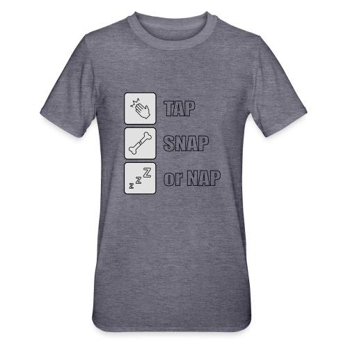 tap snap or nap - Koszulka unisex z polibawełny