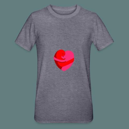 hearts hug - Maglietta unisex, mix cotone e poliestere