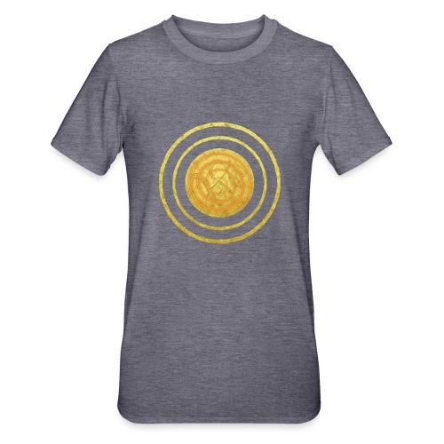 Glückssymbol Sonne - positive Schwingung - Spirale - Unisex Polycotton T-Shirt