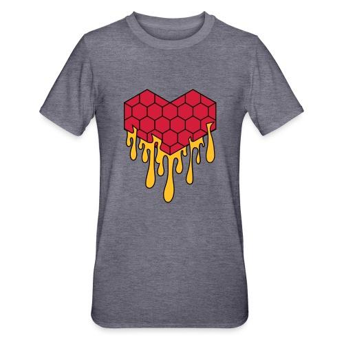 Honey heart cuore miele radeo - Maglietta unisex, mix cotone e poliestere