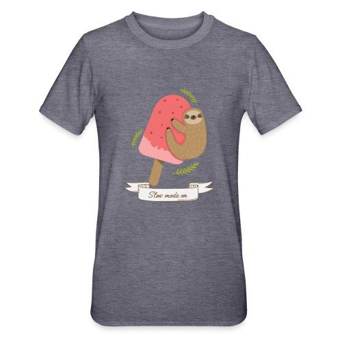 Paresseux Slow mode on - T-shirt polycoton Unisexe
