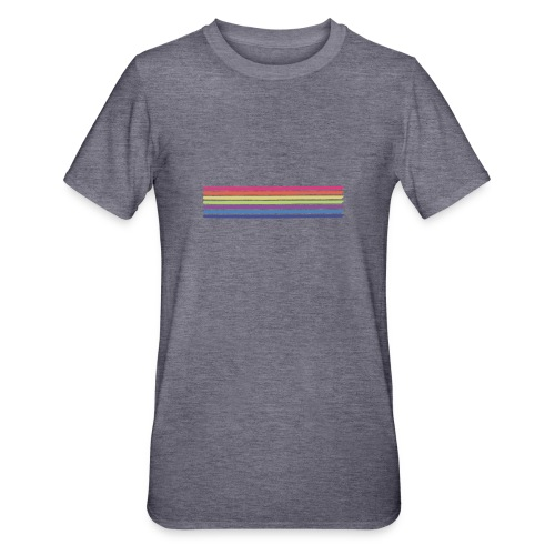 Farvede linjer - Unisex polycotton T-shirt