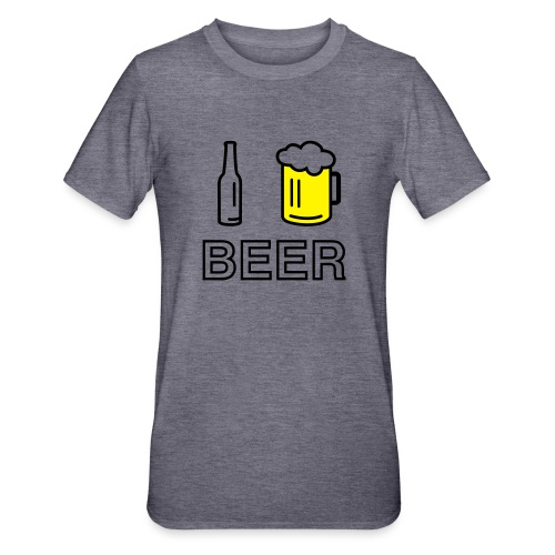 I Love Beer (2-farbig) - Unisex Polycotton T-Shirt