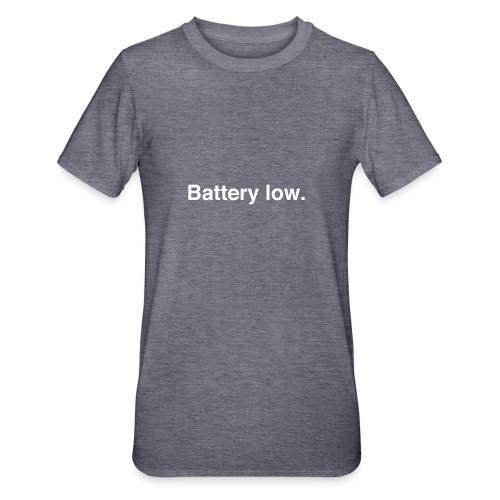 Battery Low - Unisex Polycotton T-Shirt