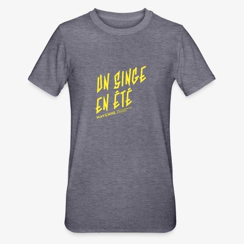 LOGO baseline jaune - T-shirt polycoton Unisexe