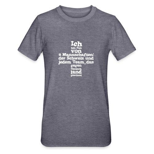 Fan von zwei Mannschaften - Unisex Polycotton T-Shirt