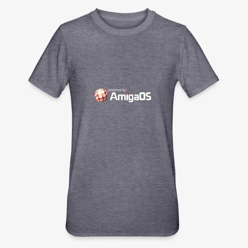 PoweredByAmigaOS white - Unisex Polycotton T-Shirt