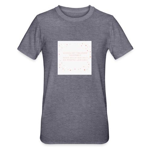 Suivre sa lumière - T-shirt polycoton Unisexe