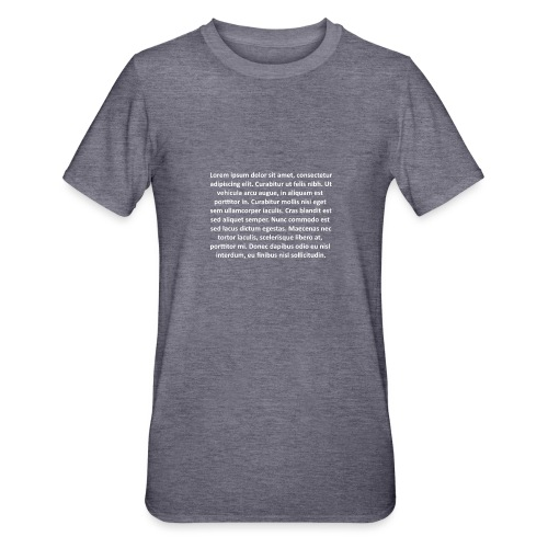 Lorem ipsum - Camiseta en polialgodón unisex