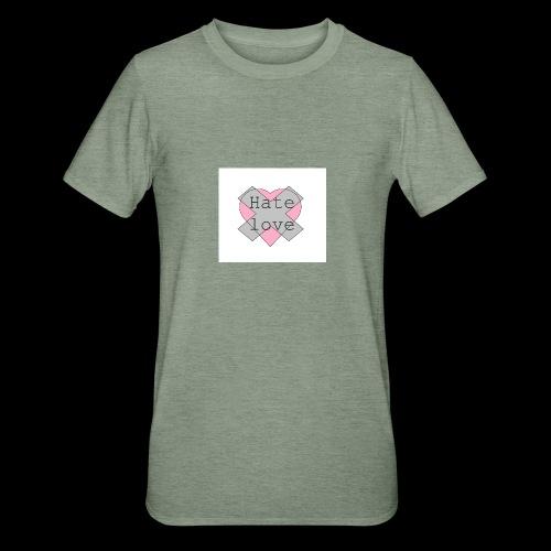 Hate love - Camiseta en polialgodón unisex