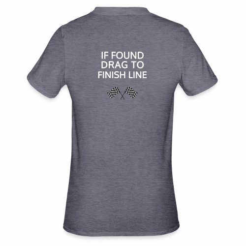 If found, drag to finish line - hardloopshirt - Unisex Polycotton T-shirt