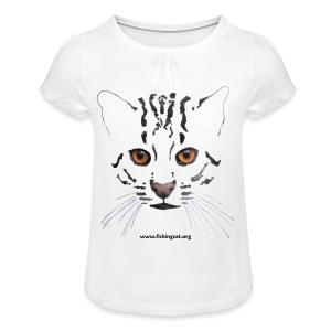 Viverrina 1 - Mädchen-T-Shirt mit Raffungen