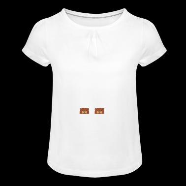 Ottermatisk bil rolig Otter Pun T-shirt - T-shirt med rynkning flicka