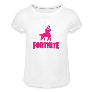 Fortnite Llama - Girl's T-shirt with Ruffles