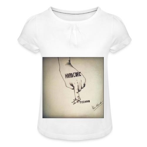 DerHardstyle.ch Hard_Core Techno - Mädchen-T-Shirt mit Raffungen