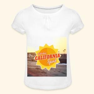 SunRise - T-shirt à fronces au col Fille