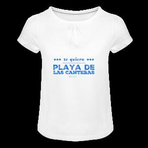 Te quiero Playa de Las Canteras - Camiseta para niña con drapeado