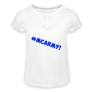 ABMC #MCARMY! - Girl's T-shirt with Ruffles