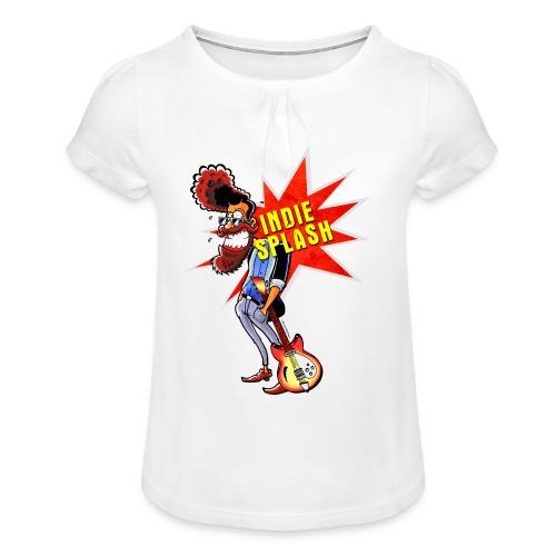 Indie Splash - Mädchen-T-Shirt mit Raffungen