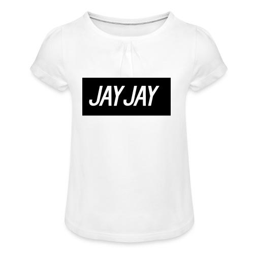 Plain JayJay Logo - Girl's T-shirt with Ruffles