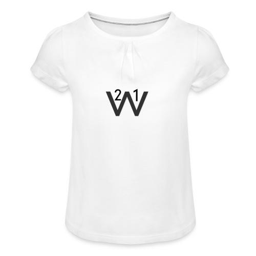 21wille Hoodie Barn - T-shirt med rynkning flicka