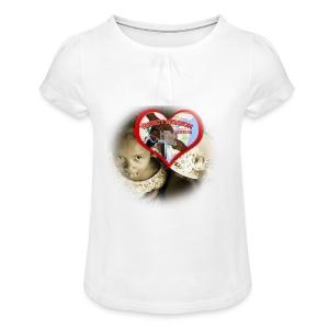 mercymission - T-shirt med rynkning flicka
