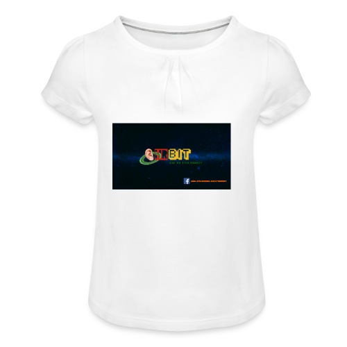 OhrBit Logo - Mädchen-T-Shirt mit Raffungen