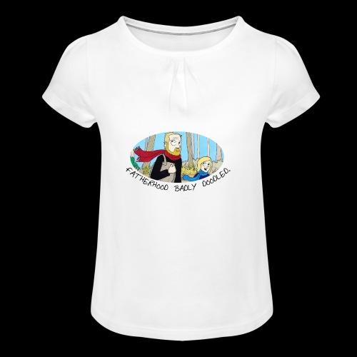 Fatherhood Badly Doodled - Girl's T-shirt with Ruffles