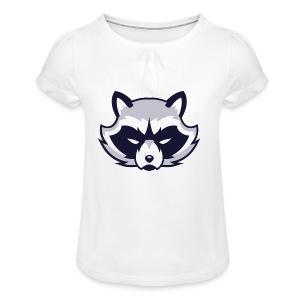 Waschbär - Mädchen-T-Shirt mit Raffungen