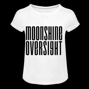 Moonshine Oversight noir - T-shirt à fronces au col Fille