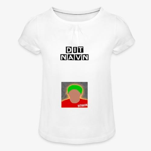 DitNavn T-shirt - Pige T-shirt med flæser