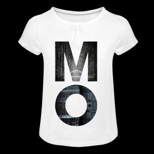 Moonshine Oversight - design épuré - T-shirt à fronces au col Fille