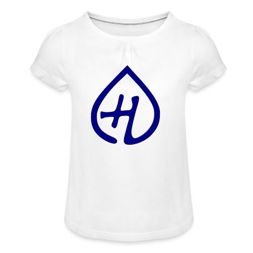 Hangprinter logo - T-shirt med rynkning flicka