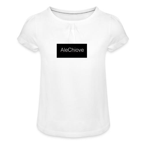 Name AleChiove - Maglietta da ragazza con arricciatura