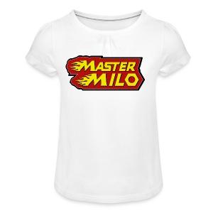 MasterMilo - Meisjes-T-shirt met plooien