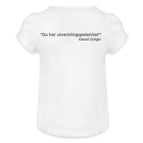 Ju jutsu kai förslag 1 version 1 svart text - T-shirt med rynkning flicka