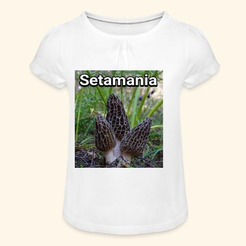 Colmenillas setamania - Camiseta para niña con drapeado