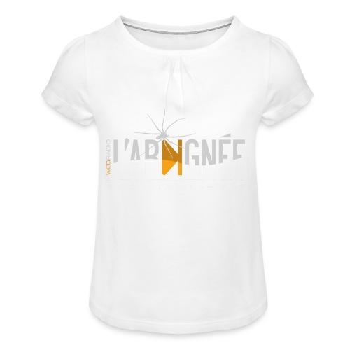L'Araignée, le logo clair pour fond foncés - T-shirt à fronces au col Fille