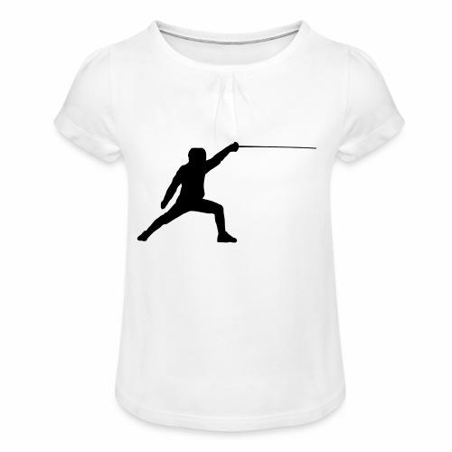 Fencer - Mädchen-T-Shirt mit Raffungen