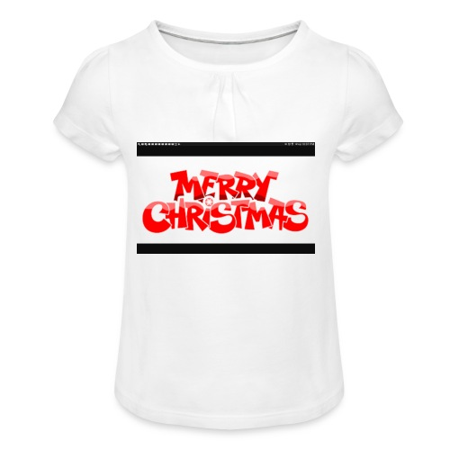 red Christmas top - Girl's T-Shirt with Ruffles