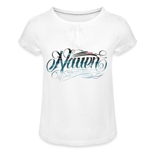 stadtbad edition - Mädchen-T-Shirt mit Raffungen