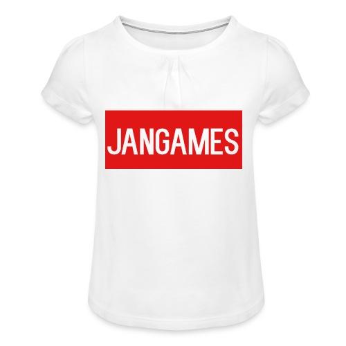 Jangames merch - Meisjes-T-shirt met plooien
