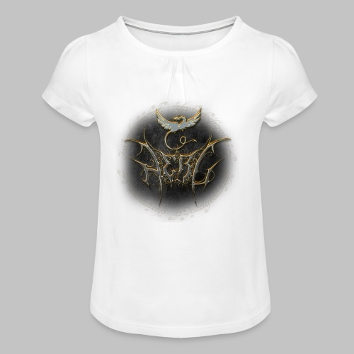 Herc Logo with writing - Girl's T-Shirt with Ruffles
