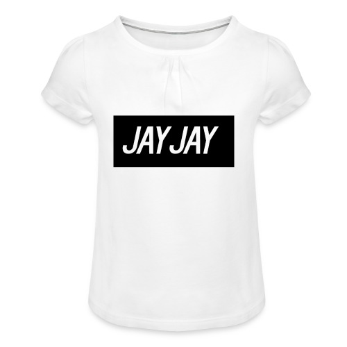 Plain JayJay Logo - Girl's T-Shirt with Ruffles